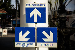 Route signs Stock Photography