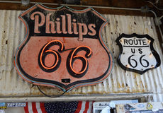 Route 66 signs Stock Images