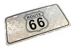 Route 66 silver metallic Sign Stock Photography