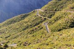 Route sinueuse scénique dans Ténérife, Îles Canaries Photo stock