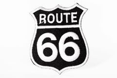 Route sixty-six. Black patch of the route sixty-six Royalty Free Stock Images