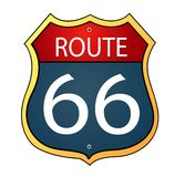 Route sixty six icon Stock Photo