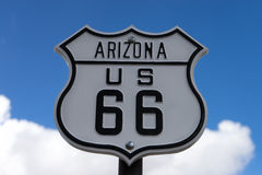 Route sixtysix road sign in arizona. Road sign in Arizona USA Stock Images