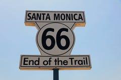 Route 66 slut av slingan Arkivbild