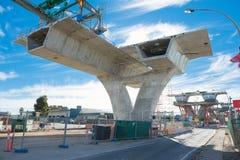 Route sous la reconstruction Image libre de droits
