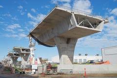 Route sous la reconstruction Photo stock