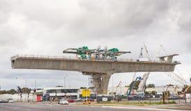 Route sous la reconstruction Photographie stock libre de droits
