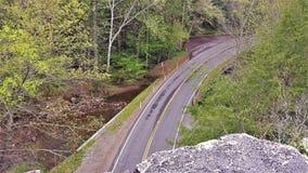 Route sous la roche d'épine dorsale Images libres de droits