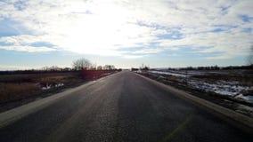 Route sous les nuages Images libres de droits