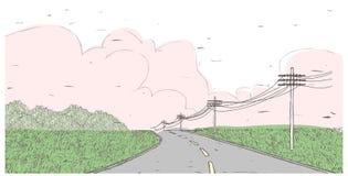 Route stérile illustration libre de droits