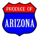 Produce Of Arizona. Route 66 style traffic sign with the legend Produce Of Arizona royalty free illustration