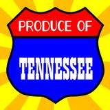 Produce Of Tennessee. Route 66 style traffic sign with the legend Produce Of Tennessee vector illustration