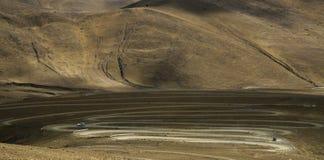 Route sur des montagnes Image stock