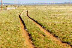 Route sur la prairie photographie stock