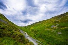 Route sur la vallée Photos libres de droits