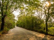 Route sur le chemin du comté à Chon Buri photo libre de droits