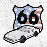 Route 66 symbol Royalty Free Stock Photography