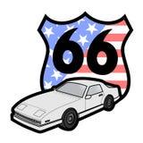 Route 66 -symbool Stock Foto