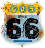 Route 66 -Tankstellezeichen, Stockfotografie