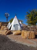 Route 66 Teepee. Roadside attraction in Ariona royalty free stock images