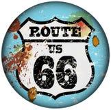 Route 66 -teken Stock Afbeelding