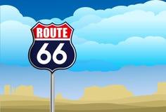 Route 66 Teken Stock Fotografie