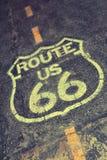 Route 66 -teken in de V.S. Royalty-vrije Stock Afbeeldingen