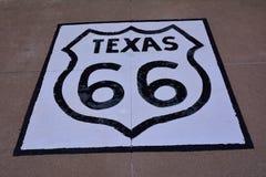 Route 66 -teken in Texas Royalty-vrije Stock Fotografie