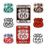 Route 66 tekenreeks Stock Afbeelding