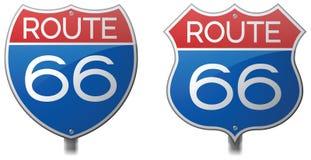 Route 66 Tekens stock illustratie