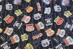 Route 66 -Tekensillustratie Stock Foto
