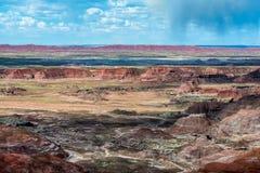 Route 66 : Tempête de point de Tawa, désert peint, AZ photographie stock libre de droits