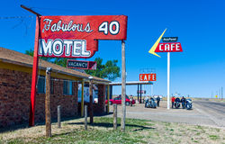 Route 66. Texas, Adrian, the Mid Point Cafe on the Route 66 Stock Photography