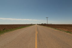 Route 380 in the Texas South Plains Royalty Free Stock Photography