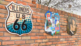 Route 66: Three shields from the Stock Images