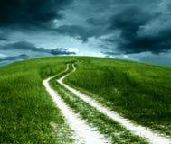 Route till överskriften. Royaltyfri Foto