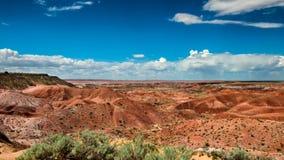 Route 66: Tiponi punkt, målad öken, AZ Royaltyfria Bilder