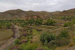 Route Tizi-n-Tichka Maroc Photo stock