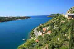 Route to Dubrovnik. View from route to Dubrovnik Royalty Free Stock Photo