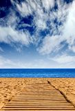 Route to happiness - beach path Stock Photo