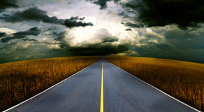 Route to heading. Royalty Free Stock Photos