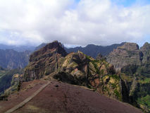The route to the highest peaks of Madeira Stock Images