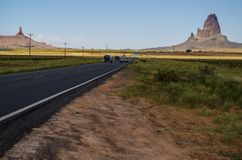 Route to the Monument Valley. Navajo Tribal Park Stock Photo