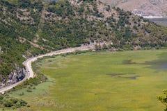Route to Podgorica - Montenegro Stock Photo