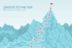 Route to the top mounting climbing vector illustration Stock Image