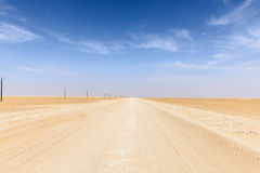 Route 43 to Ubar, Rub al-Khali desert (Oman) Stock Photos
