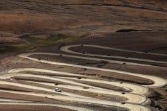 Route tortueuse de montagne Photos libres de droits