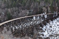 Route 54 tot Cloudcroft, New Mexico, Oude Trein Trussel royalty-vrije stock fotografie