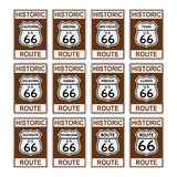 Route 66 traffic sign Historic usa america isolated vector eps. Historic Route vector traffic sign on isolated background Stock Photo