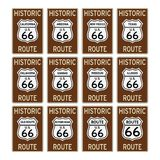 Route 66 traffic sign Historic usa america isolated vector eps Royalty Free Stock Photography